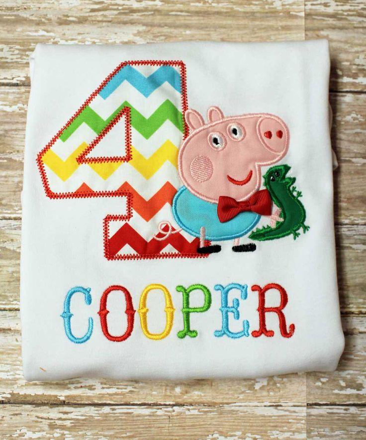 George Peppa Pig Fairy Shirt,George Pig Birthday Shirt,Birthday Number Shirt,Pink George Pig Shirt by TiptopKidsTees on Etsy https://www.etsy.com/listing/219510539/george-peppa-pig-fairy-shirtgeorge-pig