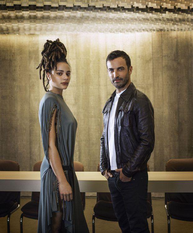 actress Sasha Lane and designer Nicolas Ghesquiere, Harper's Bazaar US, April 2017 by Vincent Fournier