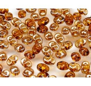 20gr Czech Two-Hole Seed Beads SuperDuo 2.5x5mm TOPAZ CELSIAN