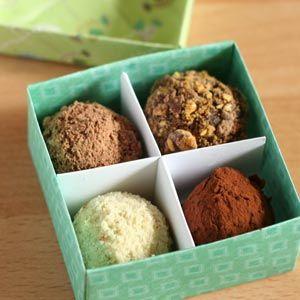 homemade food gifts chocolate truffles