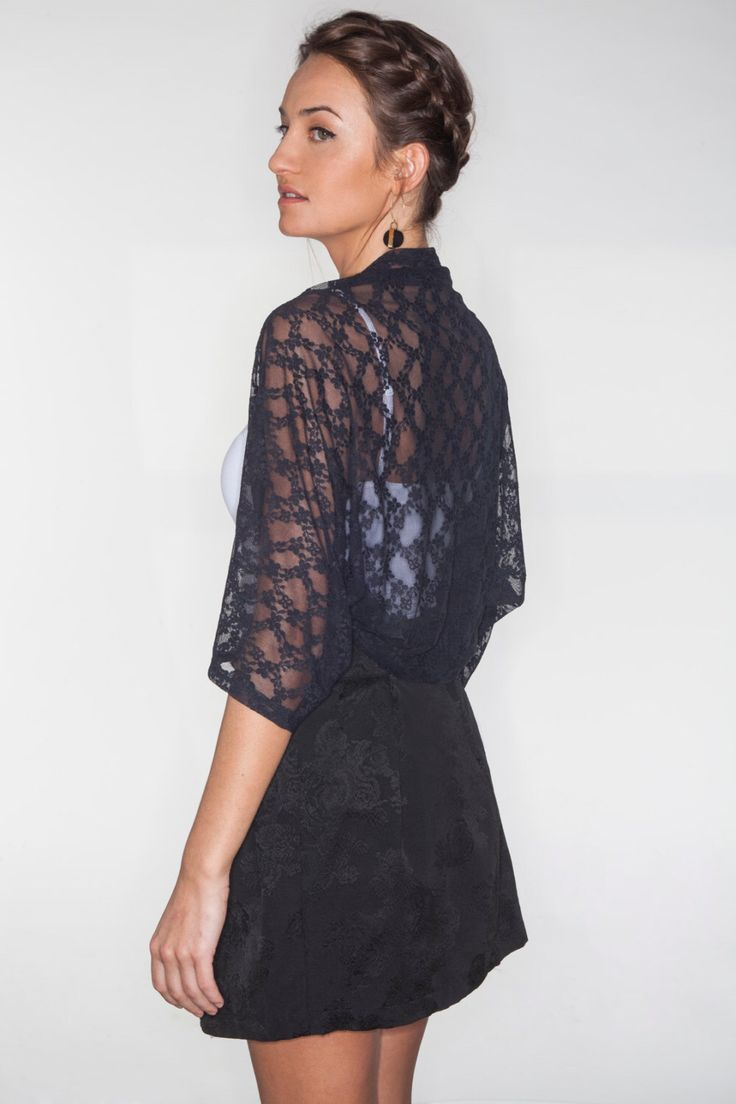 Black lace bolero from my Etsy shop https://www.etsy.com/il-en/listing/173336017/lace-jacket-black-lace-shrug-shrugs-and