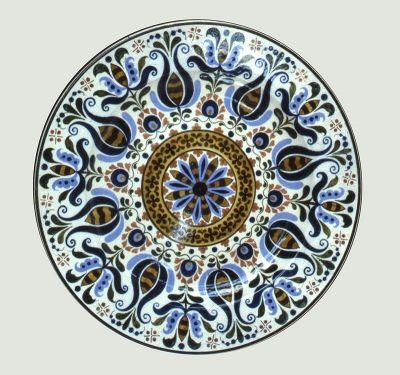Tál - nagyméretű, magyaros dekorral - Városlőd