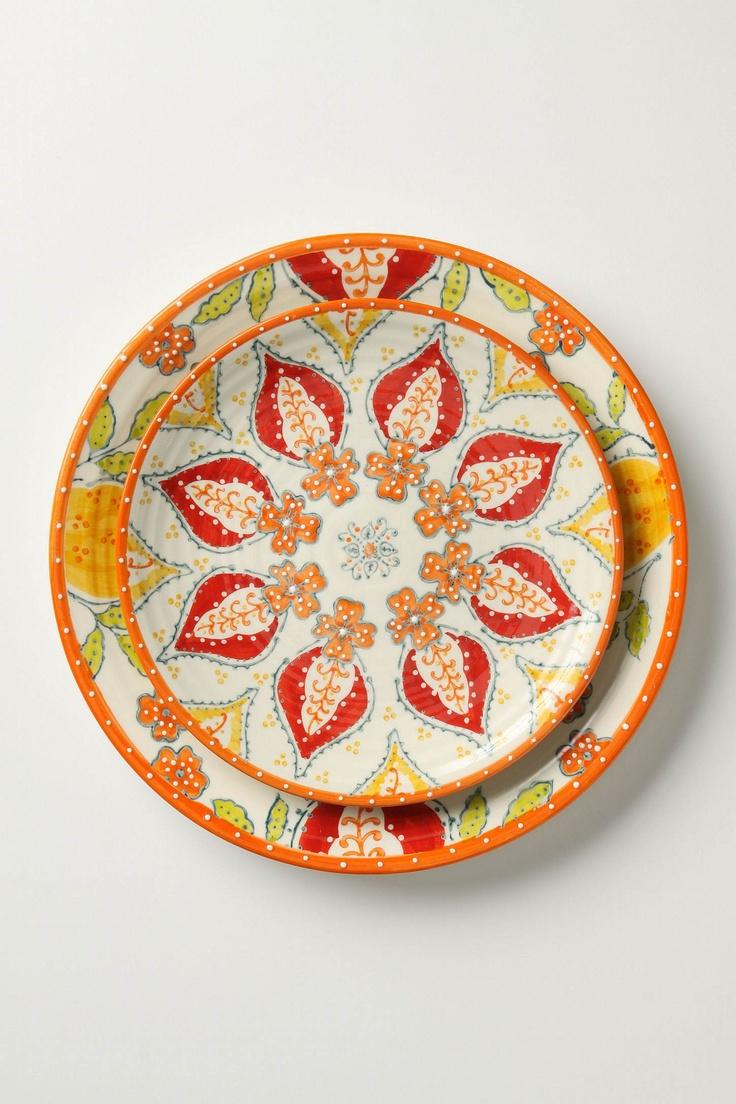 Sliced Persimmon Dishware