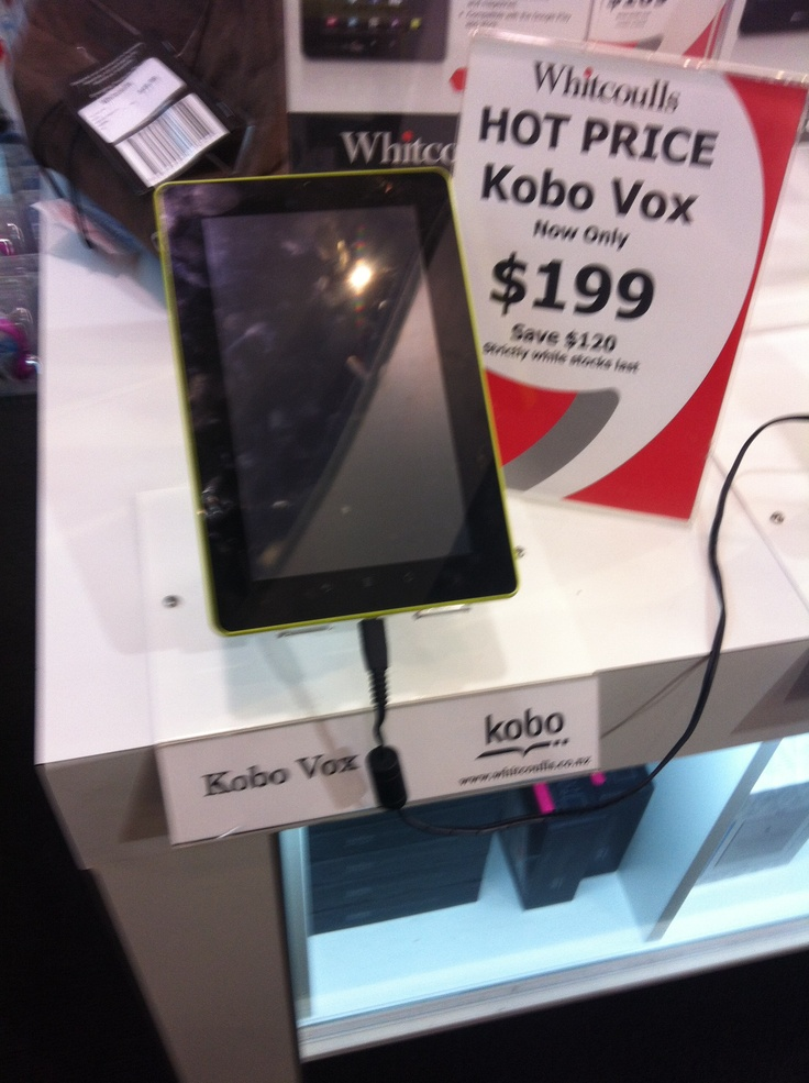 Jodie, Whitcoulls.  E reader, $199.00