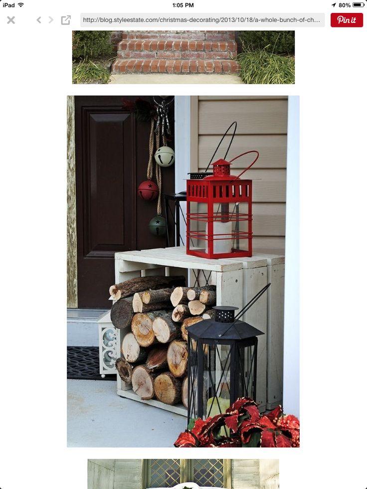 Alte Kisten, Weihnachtsdeko Aussen, Deko Holz, Neues Zuhause, Hauseingang,  Dekoration, Weihnachten, Wohnen, Coole Weihnachtsideen