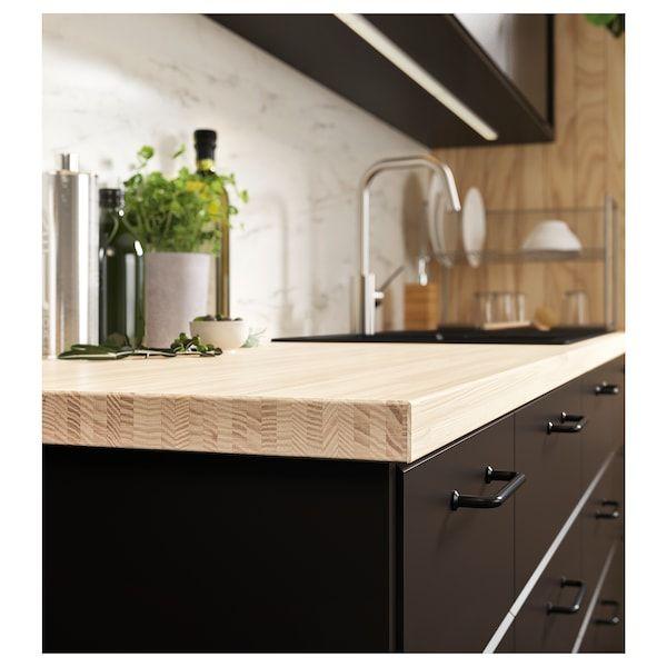 Pinnarp Countertop Ash Veneer 74x1 1 2 In 2020 Countertops Kitchen Countertops Corian Countertops