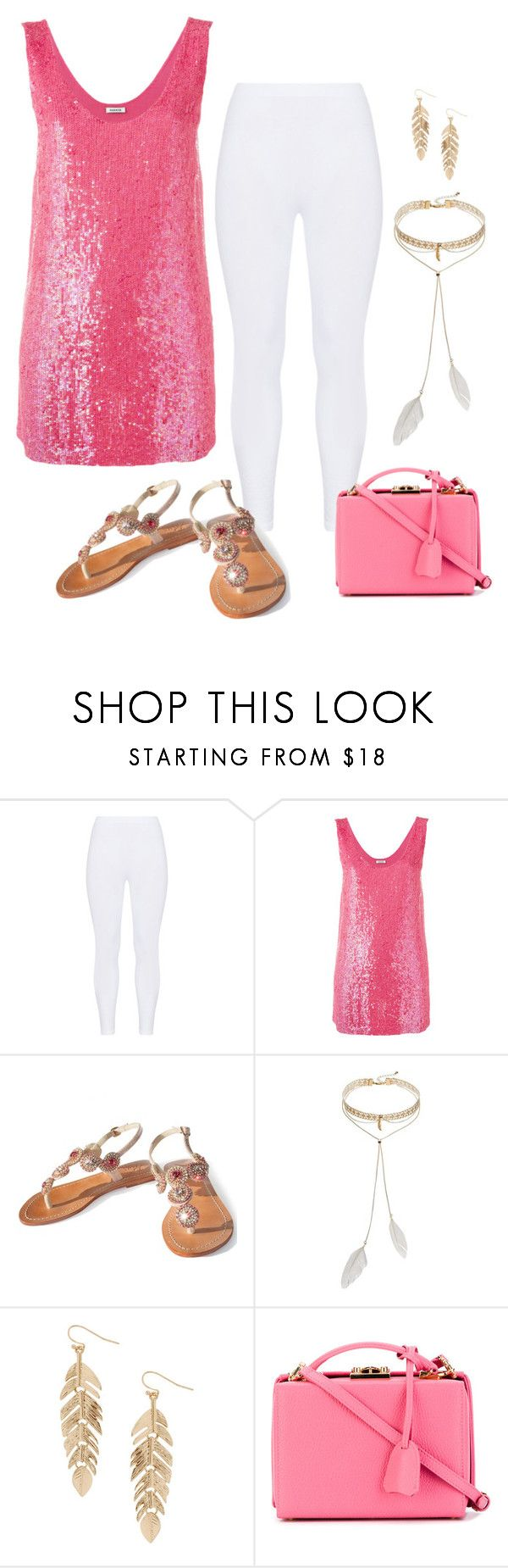 """Sparkly Pink"" by alara-cary on Polyvore featuring Gozzip, P.A.R.O.S.H., Bølo, Humble Chic and Mark Cross"