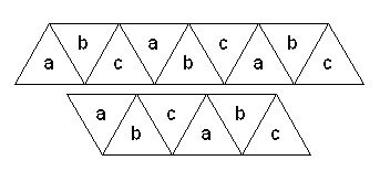 how to make a hexaflexagon with 10 triangles