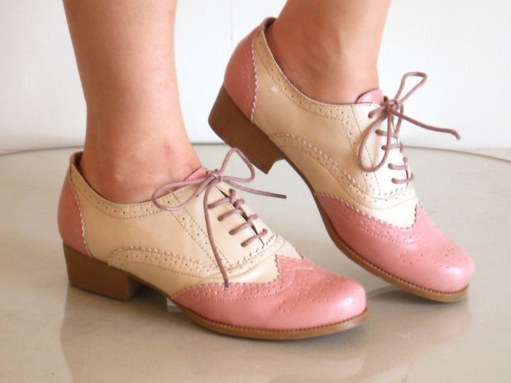Comfy Classic Brogued Spectator Lace Up Oxfords. It's getting easier to find brogues! Unfortunately they don't have these beauties in my size.