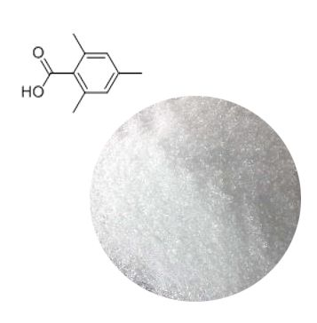 2,4,6-Trimethylbenzoic acid is organic synthesis intermediate,it can be used to produce 3-bromo-2,4,6-trimethyl-benzoic acid. It is also used as dyes, pesticides, pharmaceuticals and photoinitiators intermediates.