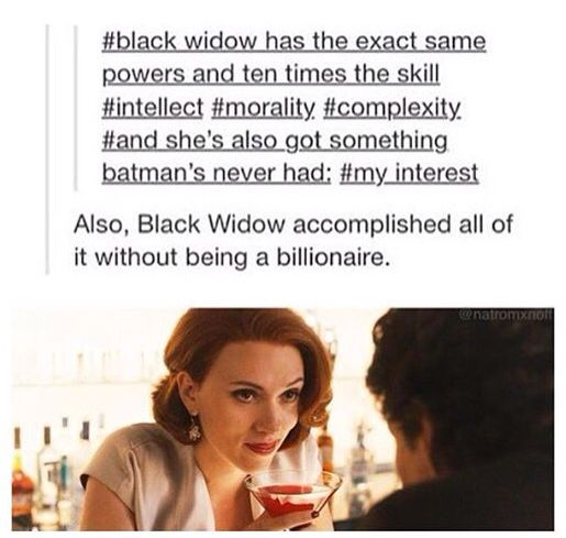 Shots fired. Now where is my Black Widow movie