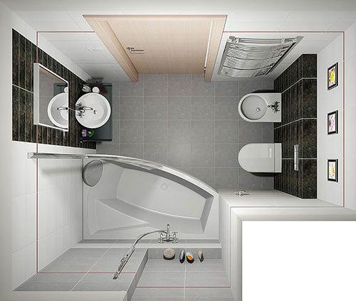 Design a small bathroom: 100 photos, ideas