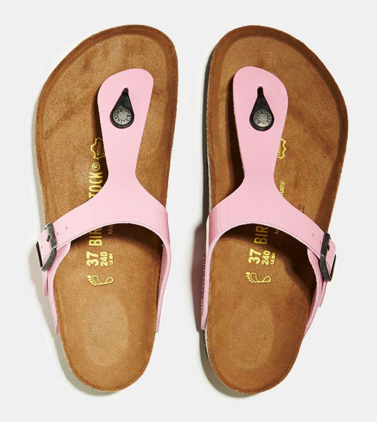 birkenstock gizeh habana sandal in pink low key want. Black Bedroom Furniture Sets. Home Design Ideas