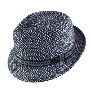 Bailey Hats Mannes Trilby - Navy Mix