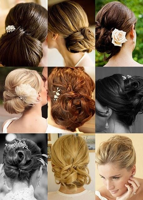 9 ideas de recogidos para tu boda: Hair Ideas, Wedding Hair, Bridal Hairstyles, Hair Wedding, Bridesmaid Ideas, Hair Style, Formal Hairstyles, Bridal Parties, Hair Color