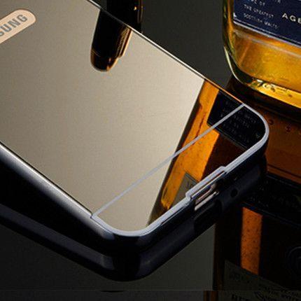 For Samsung Galaxy S5 S6 S7 SAMSUNG S4 S3 Case G900 S6edge S7edge NEW Luxury Aluminum Frame + Mirror Acrylic Phone Cases Cover