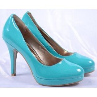 Pantofi de Dama Shiny Style Turquoise