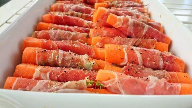 Saras madunivers: Hvidvinsdampede gulerødder i seranosvøm med timian.