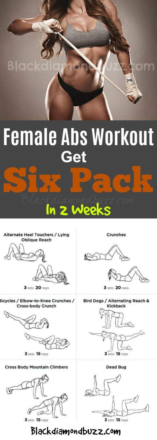 Female Abs Workout-Get Six Pack In 2 Weeks And Tone Your -4881
