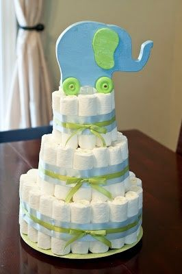 Elephant baby showers, Diaper cakes and Baby shower themes ...
