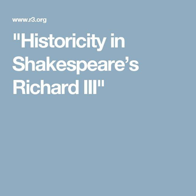 Online article hosted by the American Chapter of the Richard III Society