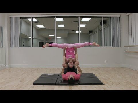 beginner acro yoga straddle bat and cartwheels  acro
