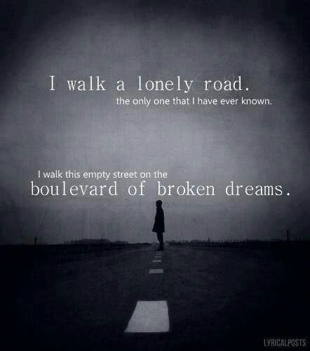 Boulevard of Broken Dreams - Green Day<<<this song is the best. I'm not joking when I say I sang this song and knew all the words when I was, like, eight.