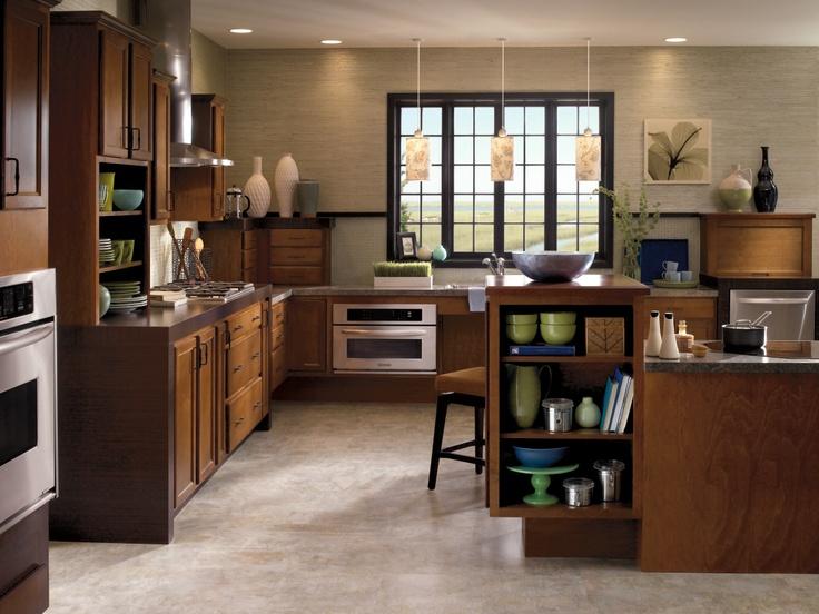 Aristokraft takes every element of your kitchen design for Warm kitchen flooring