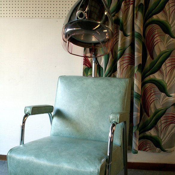 Vintage Salon Hair Dryer Chair