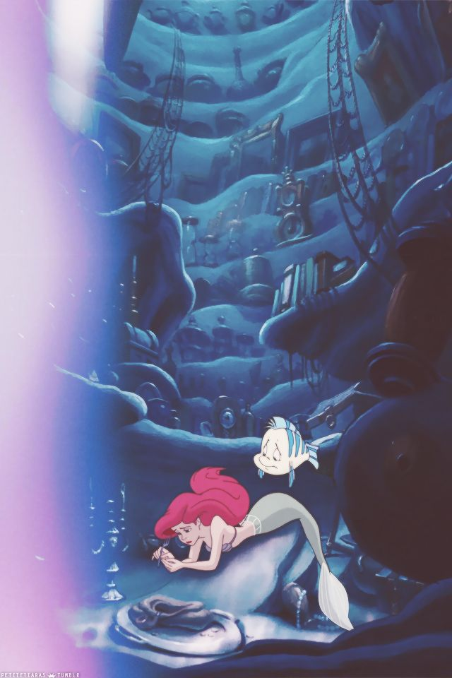 disney little mermaid ariel iphone wallpaper
