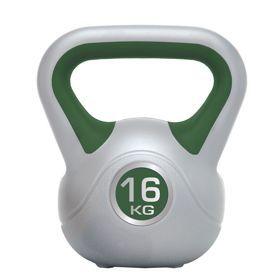 Hantle Kettleball Spokey 16kg 834205. Odważnik z uchwytem. Trening z odważnikami jest porównywalny do ćwiczeń z hantlami, ale różni się od nich tym, że jest niewyważony. W odróżnieniu od typowych hantli czy sztangi odważniki mają przesunięty środek ciężkości. #odwaznik #sprzetdocwiczen #silownia