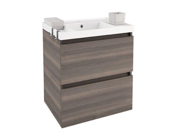 Cosmic b box mueble 2 cajones color fresno lavabo de - Lavabos de resina ...