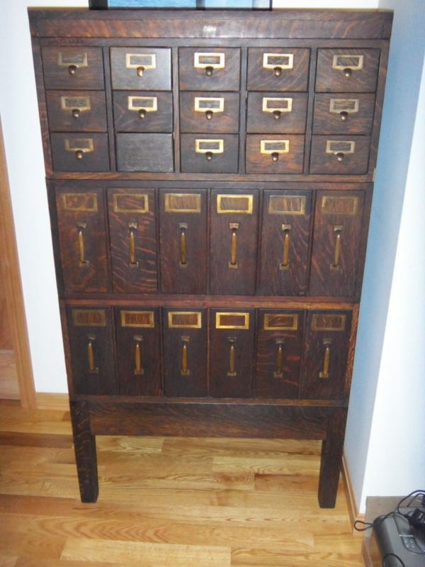 GORGEOUS Globe Antique Library Card Magazine Paper File Cabinet Solid Tiger  Oak - 45 Best Library Card Catalog I Want Images On Pinterest