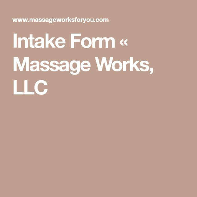 Mer Enn  Bra Ideer Om Massage Intake Forms P