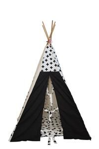Kids TeePee Black and White Crosses