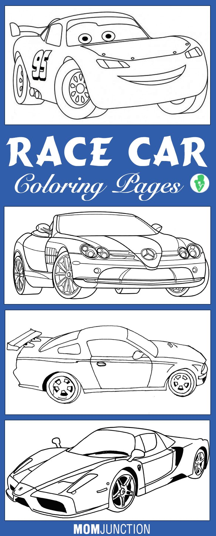 Free coloring pages race cars - Top 10 Race Car Coloring Pages For Your Little Ones