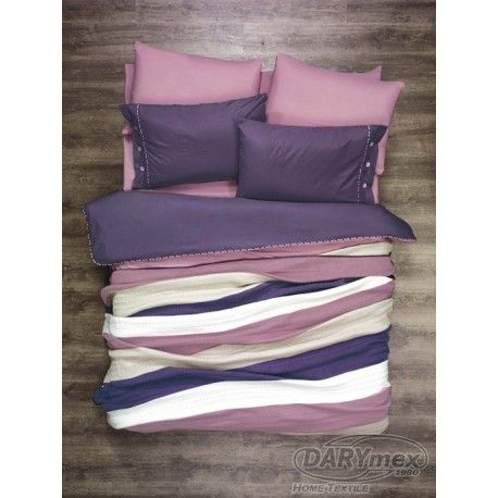 pink and purple cotton bedlinen with blanket, more on sklep.darymex.pl