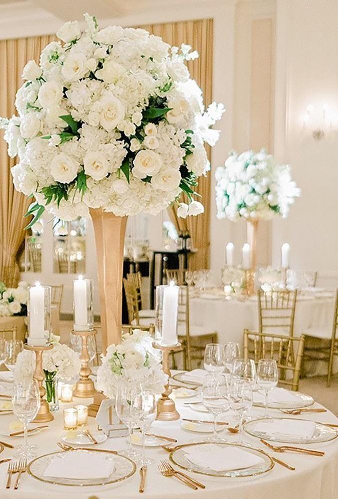 42 White Wedding Decoration Ideas Wedding Forward Wedding Floral Centerpieces White Wedding Decorations Wedding Decorations