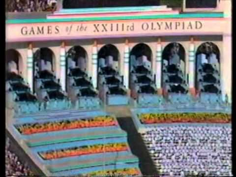 Los Angeles 1984 Olympic Opening Ceremony Rhapsody In Blue - YouTube
