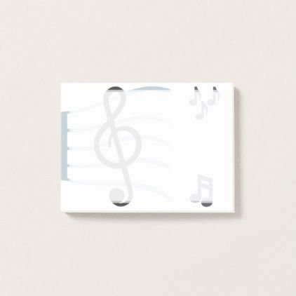 Musical Emojis Post-it Notes - diy cyo personalize design idea new special custom