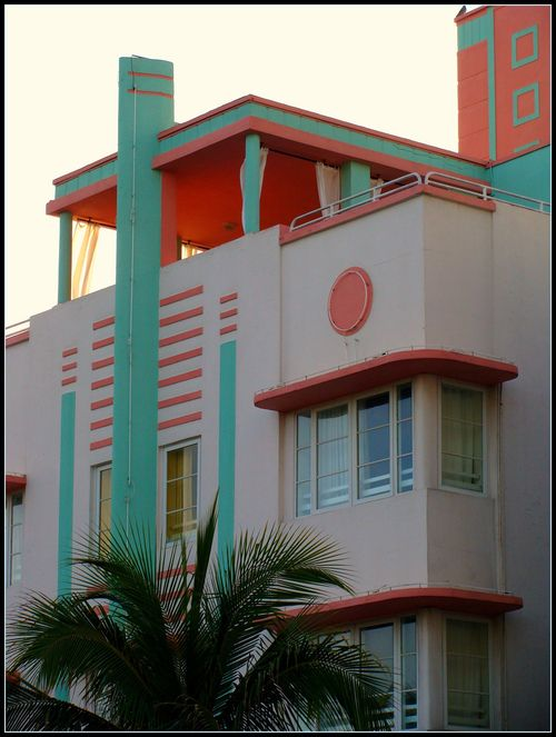 Art Deco building in South Beach, Miami ~Repinned Via Sarah Cox