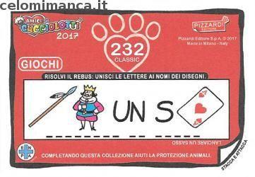 Amici Cucciolotti 2017: Retro Figurina n. 232 Volpe artica