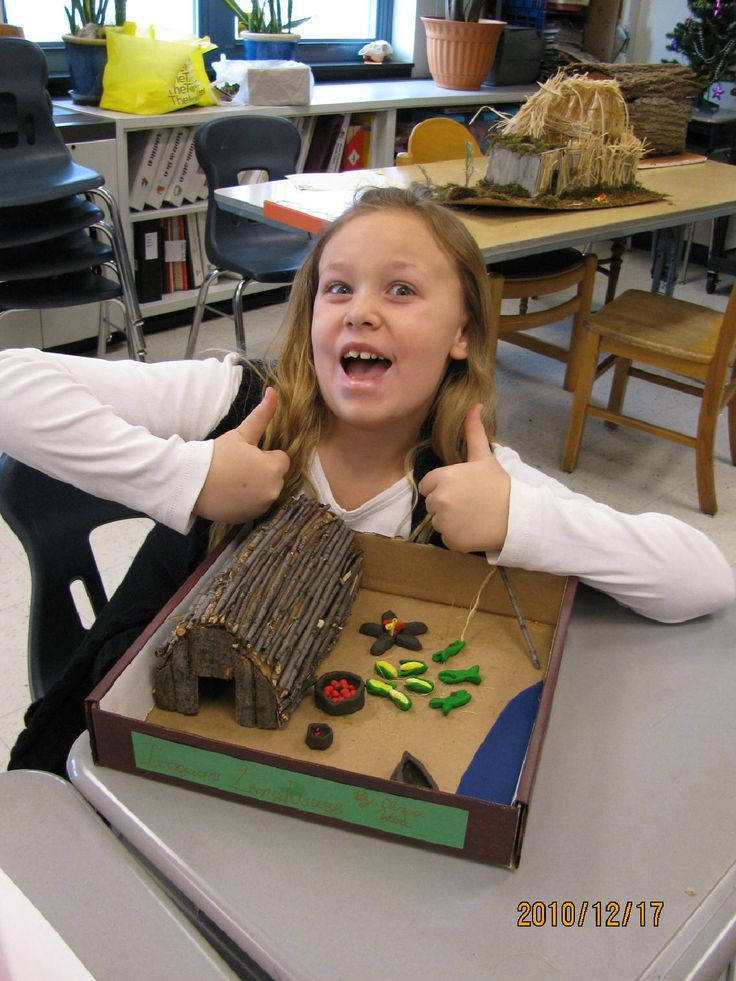 Iroquois Longhouse Project 4th Grade