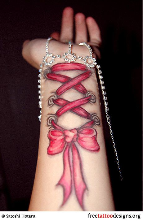 corset piercing tattoo; love this since i'd be way too scared to get a real corset piercing!