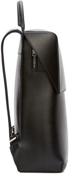Balenciaga Black Leather Phileas Backpack