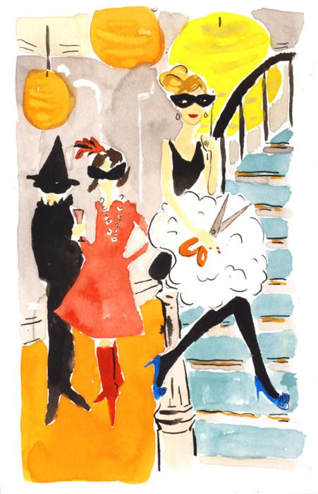 Kate Spade Halloween: Holiday, Watercolor, Inspiration, Art, Illustration, Masquerade, Bella Foster, Spade Halloween, Kate Spade