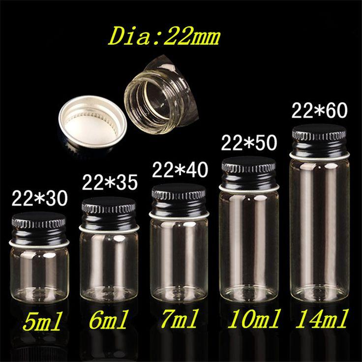 Банки контейнеры стеклянные бутылки алюминий черный Cap пустой стакан опарникы бутылки 5 мл 6 мл 7 мл 10 мл 14 мл ювелирная упаковка 100 шт.