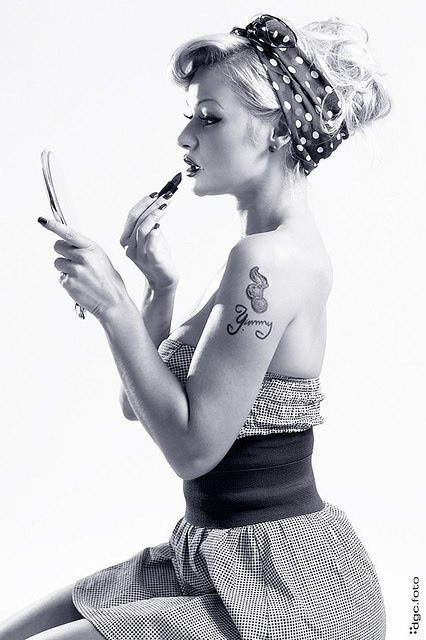 Beauty is skin deep. A tattoo goes all the way to the bone...Pin up girls #playgroundlondon