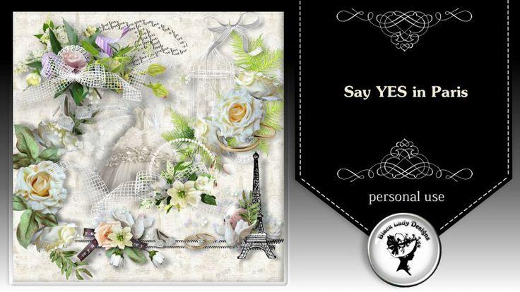 Say YES in Paris - clusters by Black Lady Designs