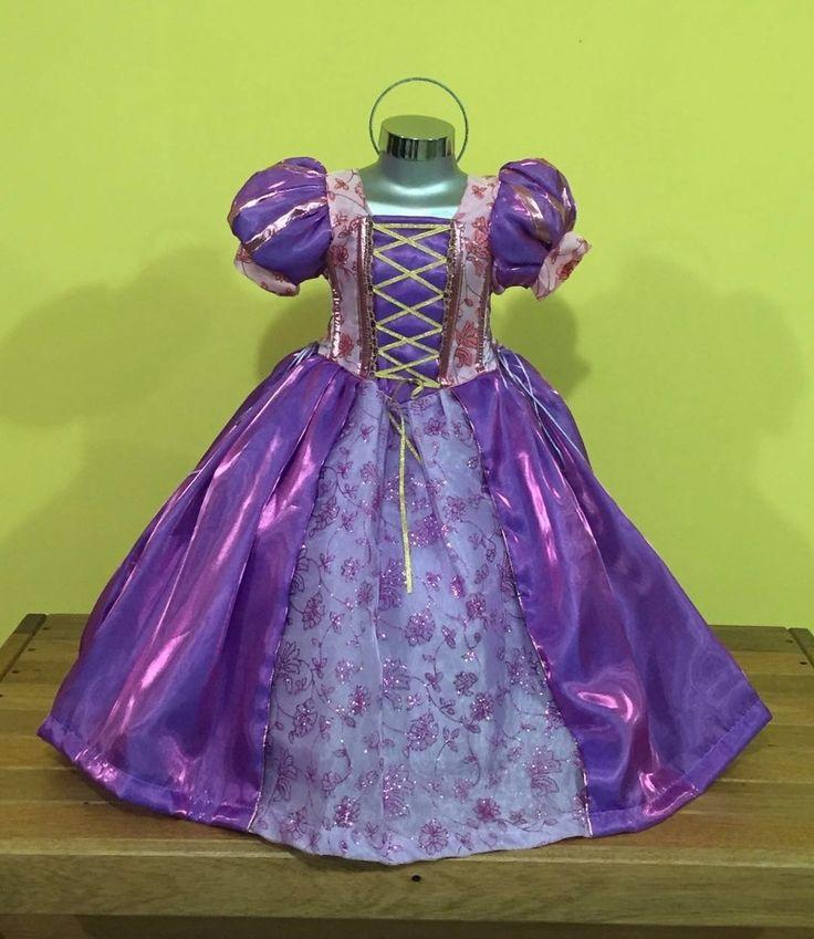 Vestido, Disfraz Paquete Princesas Rapunzel, Valiente, Elsa - $ 890.00 en MercadoLibre